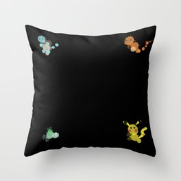 Bubbly Monsters Throw Pillow
