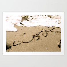 All you need is Love and Sand Art Print