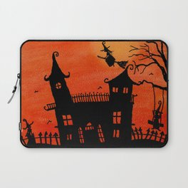 Haunted House Witch Play Laptop Sleeve