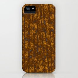 Broken Blue Stripes and Brown Cross Hatch Pattern iPhone Case