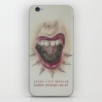 mouth iPhone & iPod Skins featuring Mouth by Cross-Eyed Morgan