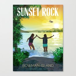Sunset Rock Canvas Print