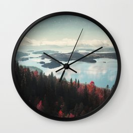 The Fjord Wall Clock