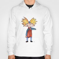 hey arnold Hoodies featuring Hey Arnold!  by laura nye.