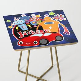 Jax-Red Car + Robots Side Table