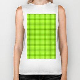 Green Grid Black Line Biker Tank