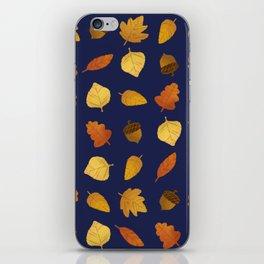 Leaf Lovers in Navy iPhone Skin