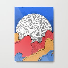 As the super moon rises Metal Print