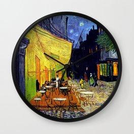 Cafe Terrace at Night Wall Clock