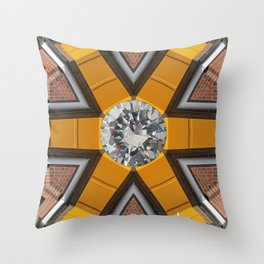 Diamond Building by Kunsthaus-Lay Throw Pillow