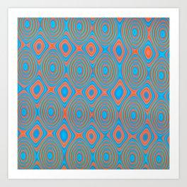 Color patches Art Print