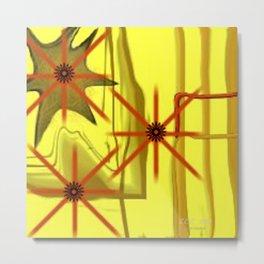 Three Stars Abstract Art by Saribelle Rodriguez Metal Print
