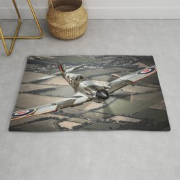 Vickers Armstrong Spitfire FR XIV Rug