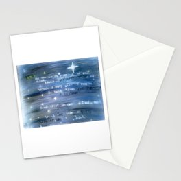 Love is an Ever Fixed Mark, It is the Star (Sonnet 116) Stationery Cards