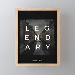 legendary since 1990 Framed Mini Art Print