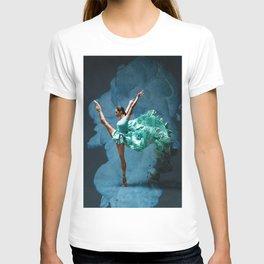 -O1- Blue Ballet Dancer Deep Feelings. T-shirt