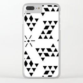 Triangle slide Pattern Clear iPhone Case