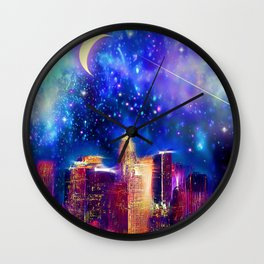 Starry Night Los Angeles Wall Clock