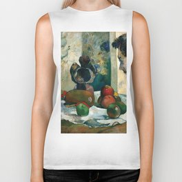 Still Life with Profile of Laval by Paul Gauguin Biker Tank