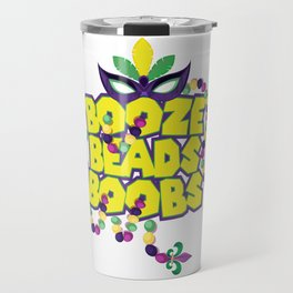 Mardi Gras Parade 2019 Beads Party Shirt Gift Idea Dark Light Travel Mug
