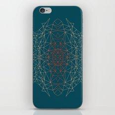 GeoGradientTurquoise iPhone & iPod Skin
