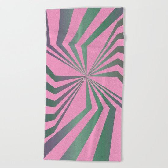 Broken Lines - Optical games Beach Towel