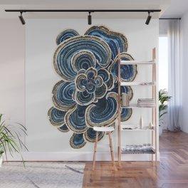 Blue Trametes Mushroom Wall Mural