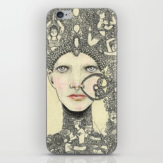 The Queen iPhone & iPod Skin