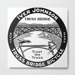 Vintage retro Iver Johnson Truss Bridge bicycle ad Metal Print