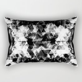 Electrifying black and white sparkly triangle flames Rectangular Pillow