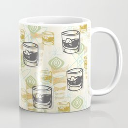 Dad Is Home Retro Midcentury Whiskey Pattern Coffee Mug