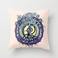 buddhism Throw Pillows featuring Tree of Knowledge by DebS Digs Photo Art