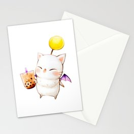 Moogle Bubble Tea Stationery Cards