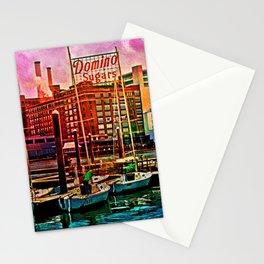 Domino Sugars Dqwn, Baltimore Skyline, Inner Harbor, Maryland  Stationery Cards