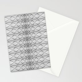 String Art Sequence - Black on White Stationery Cards