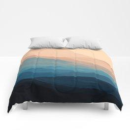 Blue Waves In Desert Peaks Comforters