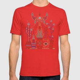Santa Fe Garden – Turquoise & Brown T-shirt