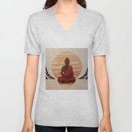 Buddha marquetry Unisex V-Neck