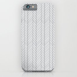 Herringbone Grey iPhone Case