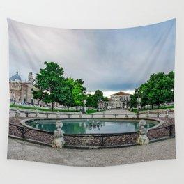 Fountain in Prato della Valle square Wall Tapestry
