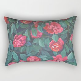 Camellias, lips and berries. Rectangular Pillow