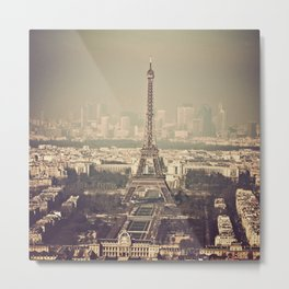 paris skyline aerial view with eiffel tower Metal Print