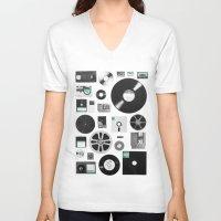 data V-neck T-shirts featuring Data by Florent Bodart / Speakerine