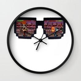 Retro Glasses - KOMBAT edition Wall Clock