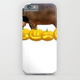 Halloween hippo Witch Hat Jackolanterns iPhone Case