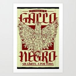 Gallo Negro Art Print