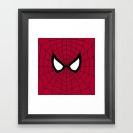 Spider man superhero Framed Art Print