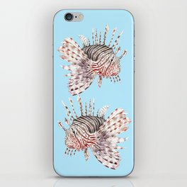 Watercolor Lionfish Tropical Fish Marine Life Painting iPhone Skin