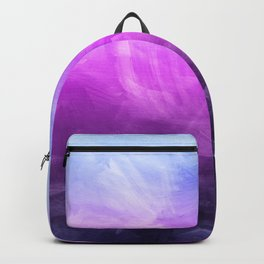 Watercolor Painting, Purple Blue Design Backpack