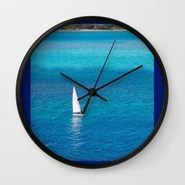 Perfect Blue Sailing Day Wall Clock